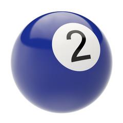 billiard ball isolated on white background. 3d illustration