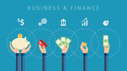 business and finance vector background