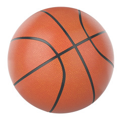 3d Basketball ball isolated on a white background.