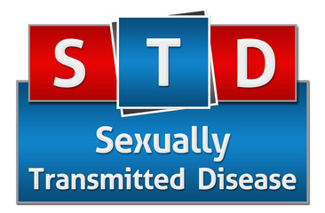STD - Sexually Transmitted Disease Red Blue Squares