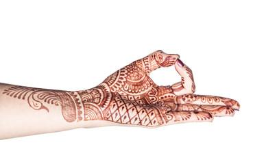 Meditation mudra with henna