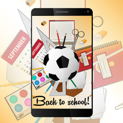 School Phone vector