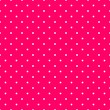 Tile vector pattern with white polka dots on pink background