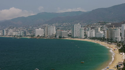Acapulco Bay With Buildings
