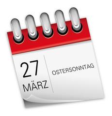 27 März 2016 Ostersonntag Ostern Kalender