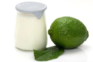 Pot  yaourt  citron vert