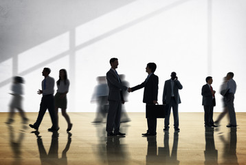 Silhouettes Diverse Corporate Business People Concept