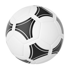 Soccer ball isolated on white background. 3d illustration high r