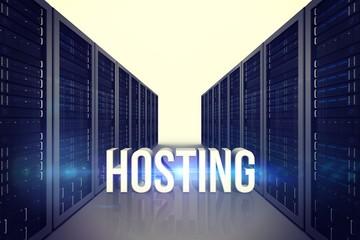 Composite image of hosting