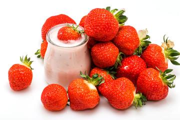 Yaourt fruits fraises
