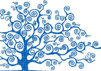 albero con texture puzzle
