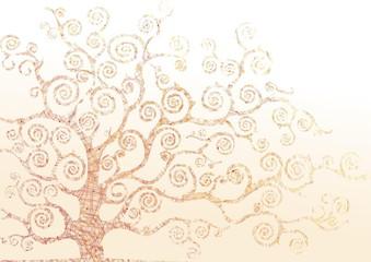albero astratto colore arancione