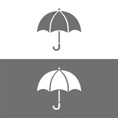 Icono paraguas BN