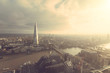 Aerial view of London with The Shard skyscraper - 80449262