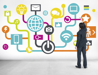 Global Communications Social Networking Planning Online Concept