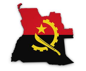 Angola Map Flag Shape