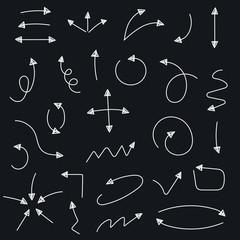 Sketch arrow set. Vector illustration. Easy to edit