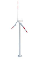 Wind turbine isolated on white background