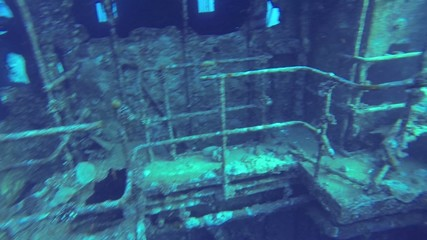 Inside the sunken ship, Red Sea