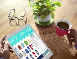 Digital Online Marketing Sale Shopping Concept