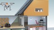 Energy efficient houses with solar panels