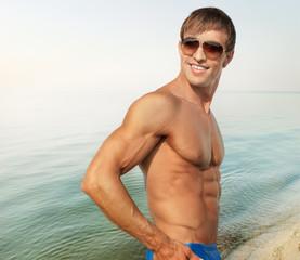 Muscular handsome guy