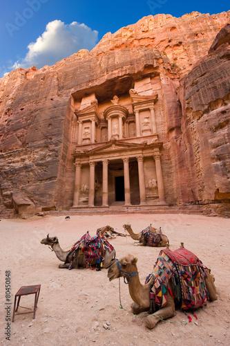 Leinwandbild Motiv Petra in Jordan