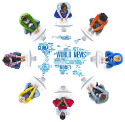 World News Globalization Advertising Event Media Infomation
