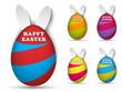 Happy Easter Rabbit Bunny Easter Egg Set