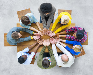Group of Diverse People Hand Cupped Concept