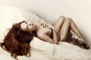 Beautiful slim woman with perfect body