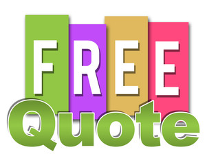Free Quote Colorful Stripes
