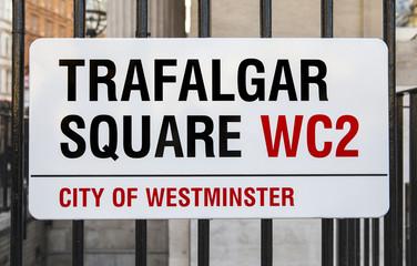 Trafalgar Square Sign in London