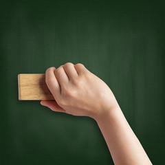 Cleaning a blackboard