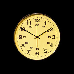 Business clock black