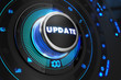 Update Button with Glowing Blue Lights. - 80454035