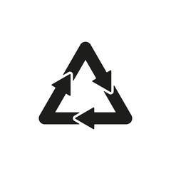 The waste processing icon. Bio symbol. Flat