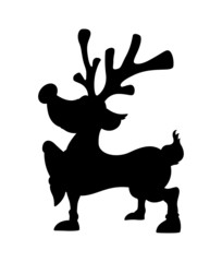 Cute Christmas Reindeer Shape