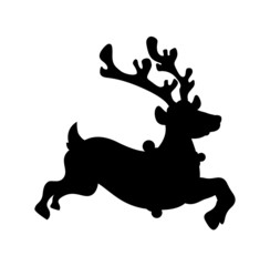 Reindeer Running Shape