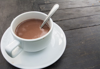 Hot Chocolate in a cup on the table