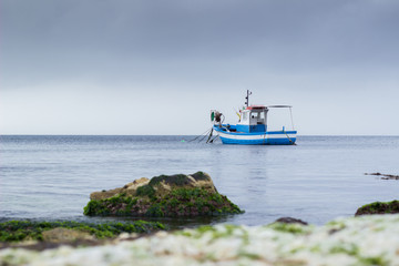 Fishing boat in sea