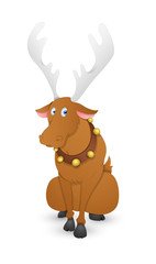 Funny Dasher Christmas Reindeer