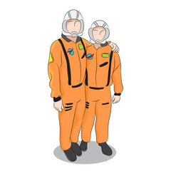 Astronauts in Uniform