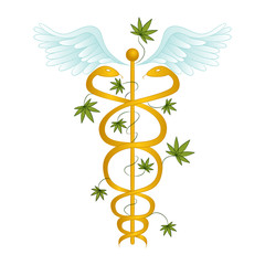 Medical Marijuana Caduceus