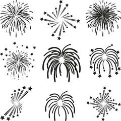 Feuerwerk, Explosion, Vorlage, Sammlung