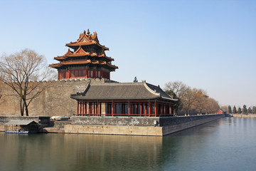 Forbidden city tower in Beijing, China