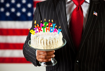 Politician: Cake with Birthday Candles