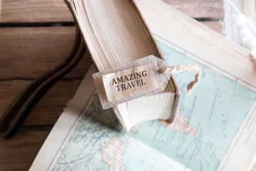 Amazing Travel inscription and tourist atlas