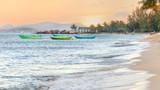 Dreamy glowing sunset seascape