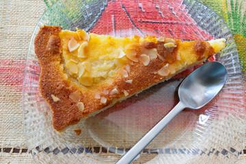 portion de tarte à la poire